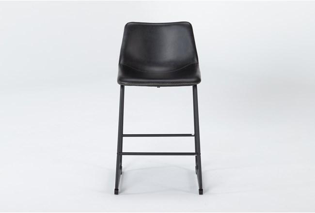 "Cobbler Black 26"" Counter Stool - 360"