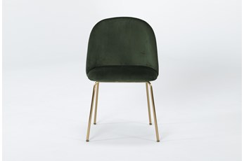 Ava Emerald Green Velvet Dining Side Chair
