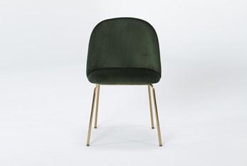 Ava Emerald Green Velvet Dining Side Chair