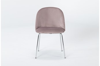Ava Blush Velvet Dining Side Chair