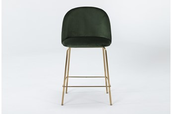 Ava Emerald Green Velvet 25 Inch Counter Stool