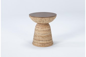 Zina Round End Table