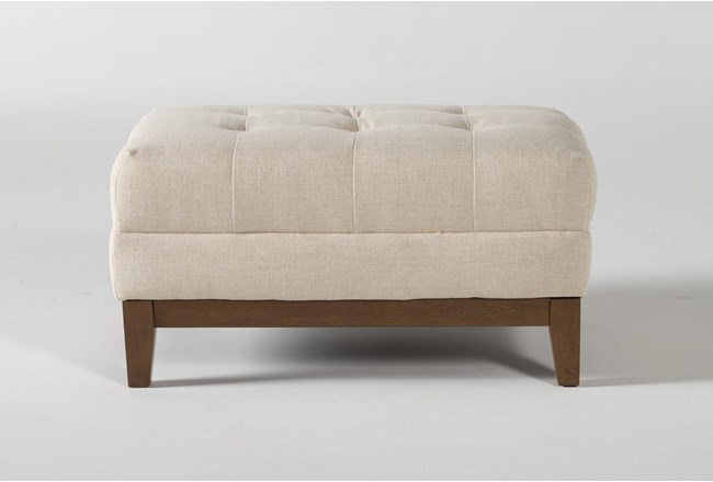 Magnolia Home Hillcrest Cottonbale Ottoman By Joanna Gaines - 360