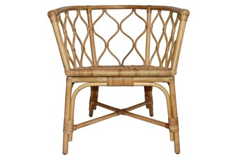 Rattan Open Weave Curved Dining Chair