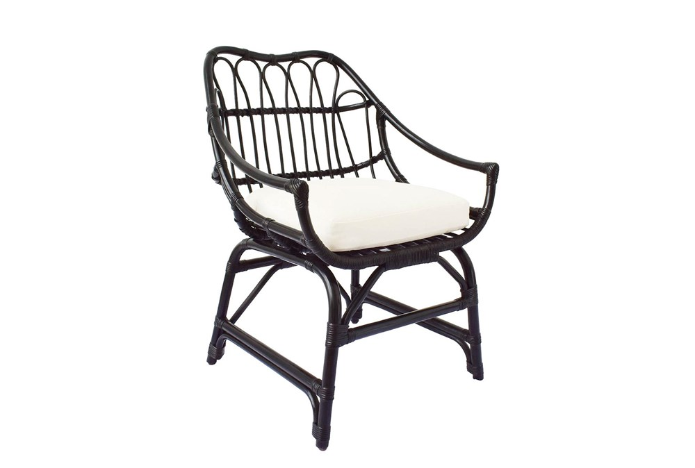 Espresso Rattan Bucket Chair