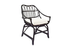 Espresso Rattan Bucket Chair