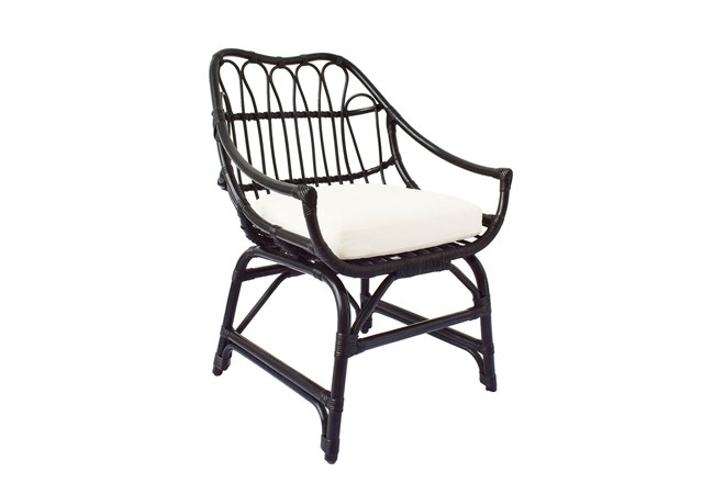 Espresso Rattan Bucket Chair  - 360
