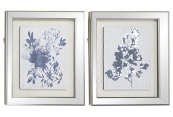 19X23 2 Piece Blue Botanicals