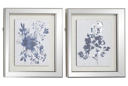 19X23 2 Piece Blue Botanicals - Main