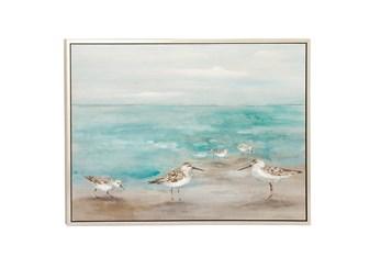 47X36 Seagulls On The Coast