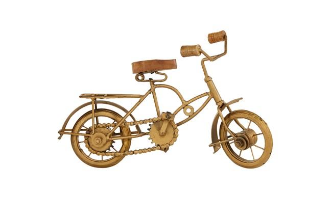 Gold Metal Bicycle Sculpture - 360