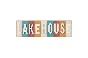 Wall Decor Multicolor Lakehouse Sign