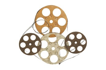 Wall Decor Mixed Metal Film Reel