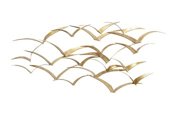 Wall Decor Flying Gold Metal Birds