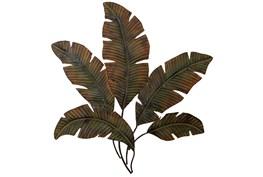Large Brown Metal Rustic Leaf Wall Decor