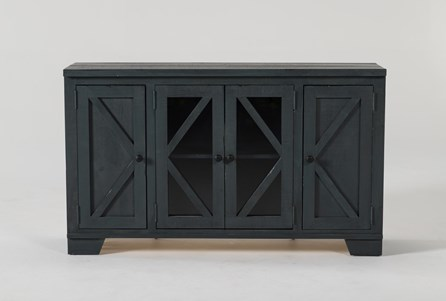 Sinclair Blue Lagoon 54 Inch TV Stand With Glass Doors - Main