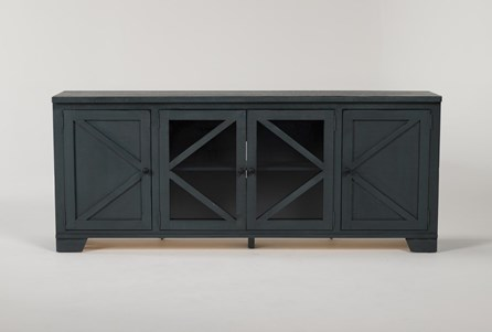 Sinclair Blue Lagoon 78 Inch TV Stand With Glass Doors - Main