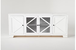 Sinclair II White 78 Inch TV Stand
