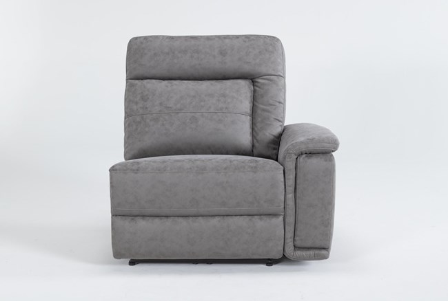 Huntley Stone Right Arm Facing Power Recliner With USB - 360