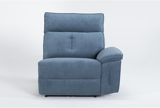 Pippa Blue Right Arm Facing Power Recliner With Power Headrest - 360