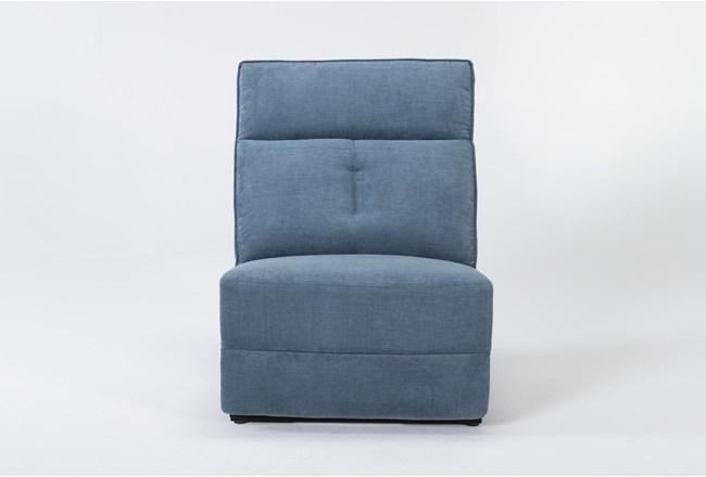 Pippa Blue Armless Chair - 360