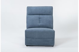 Pippa Blue Armless Recliner
