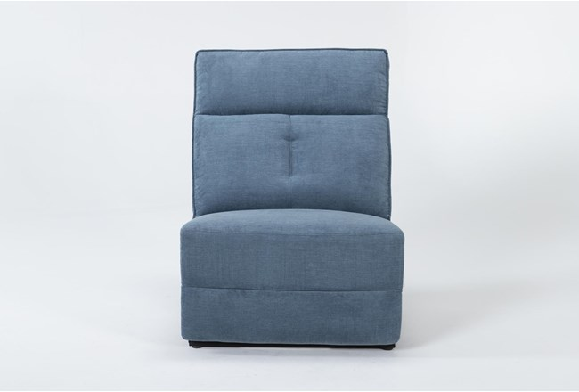 Pippa Blue Armless Recliner - 360