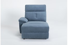 Pippa Blue Left Arm Facing Chaise