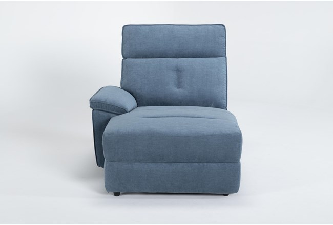 Pippa Blue Left Arm Facing Chaise - 360