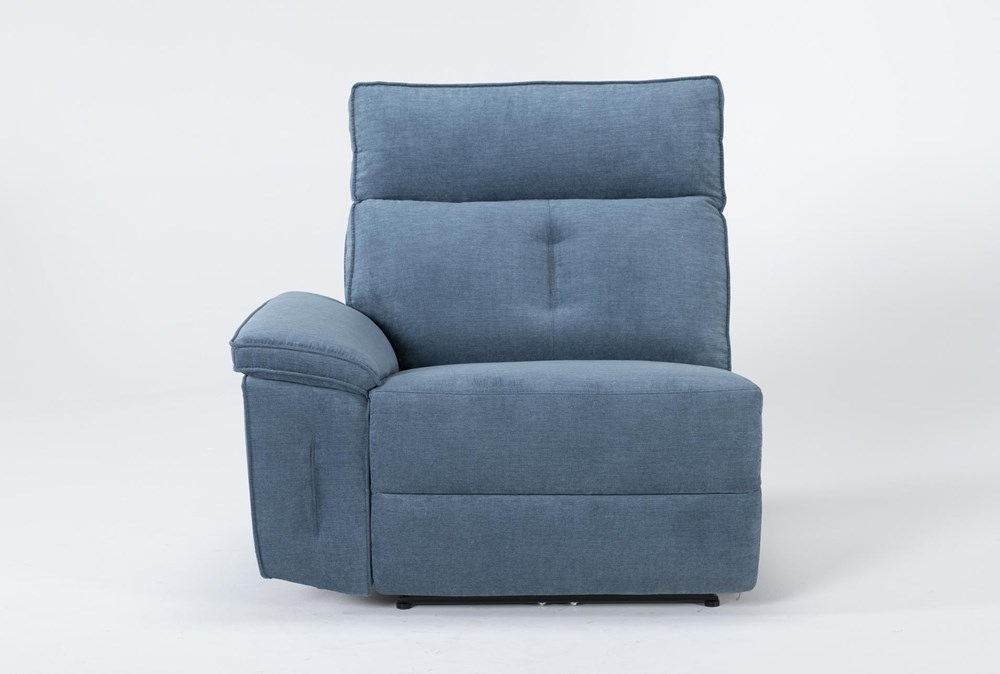 Pippa Blue Left Arm Facing Power Recliner With Power Headrest
