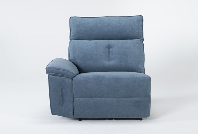 Pippa Blue Left Arm Facing Power Recliner With Power Headrest - 360