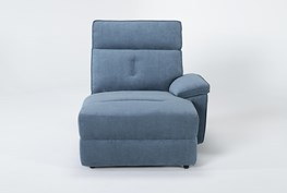 Pippa Blue Right Arm Facing Chaise