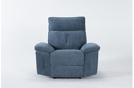 Pippa Blue Power Recliner With Power Headrest