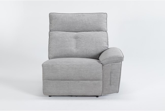 Pippa Grey Right Arm Facing Power Recliner With Power Headrest - 360
