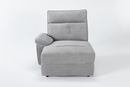 Pippa Grey Left Arm Facing Chaise