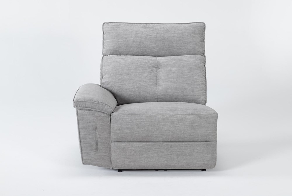 Pippa Grey Left Arm Facing Power Recliner With Power Headrest