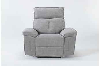Pippa Grey Power Recliner With Power Headrest