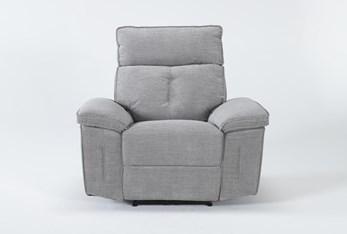 Pippa Grey Power Recliner With Power Headrest