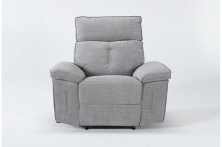Pippa Grey Power Recliner With Power Headrest - Main