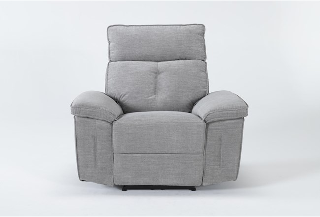 Pippa Grey Power Recliner With Power Headrest - 360