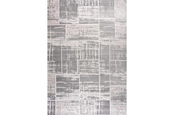63X90 Rug-Distressed Patchwork Grey
