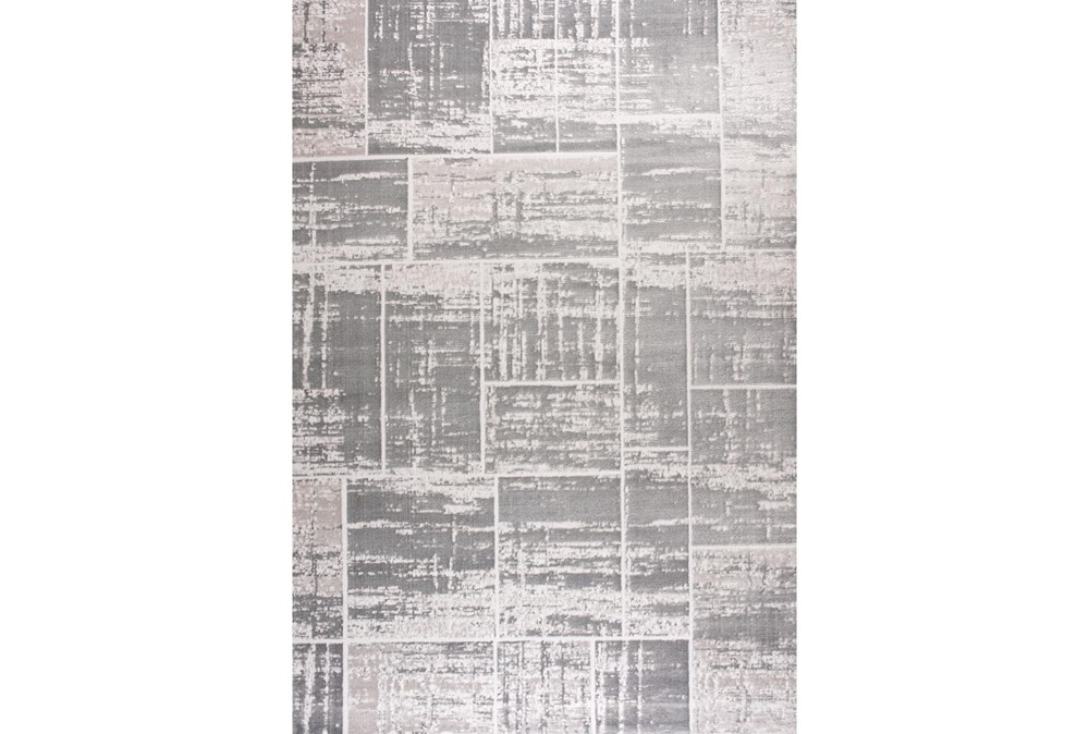 94X126 Rug-Distressed Patchwork Grey