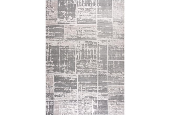 94X126 Rug-Distressed Patchwork Grey - 360
