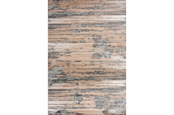 63X90 Rug-Distressed Abstract Beige/Grey