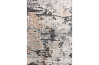 63X90 Rug-Distressed Abstract Grey/Beige