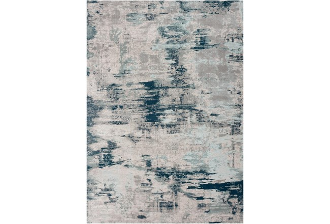 94X126 Rug-Distressed Abstract Grey/Blue - 360
