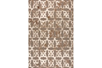 63X90 Rug-Diamond Knot Plush Pile Beige