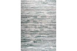 63X90 Rug- Wavy Lines Grey/Seaglass