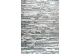 "5'3""x7'5"" Rug- Wavy Lines Grey/Seaglass"