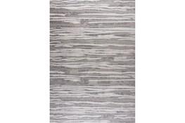 63X90 Rug- Wavy Lines Light Grey